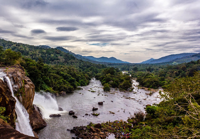 Athirapally waterfalls top view