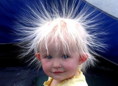photo drôle de cheveux