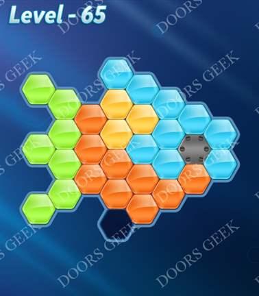 Block! Hexa Puzzle [5 Mania] Level 65 Solution, Cheats, Walkthrough for android, iphone, ipad, ipod