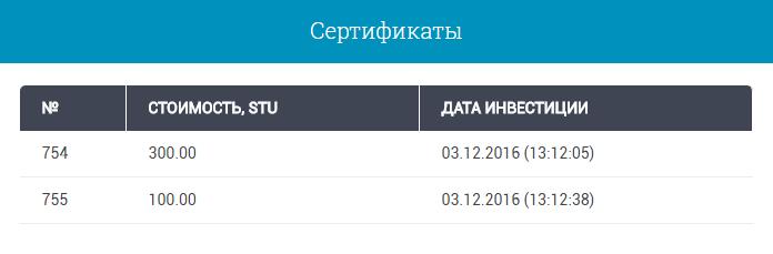 Депозит StartupUM