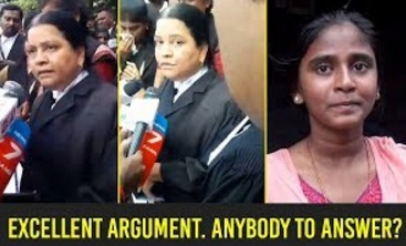 Excellent argument. Anybody to answer? | Death of innocencent girl Dr. Anitha