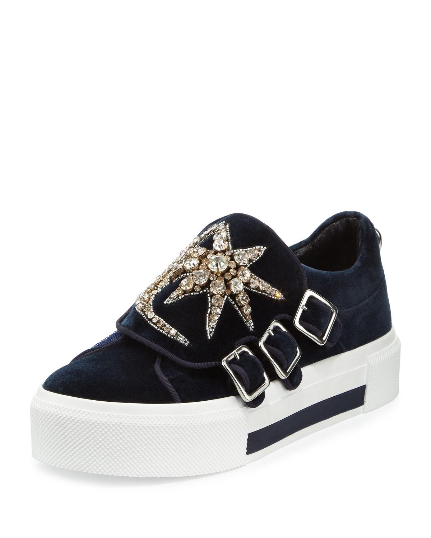 Velvet Black Platform Shoe