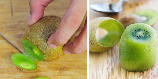 Descascando alimentos facilmente - Kiwi