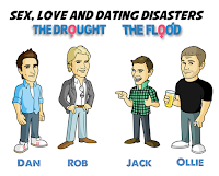 Characters from The Drought, Characters from The Flood, Sex Love and Dating Disasters, Steven Scaffardi, Lad Lit, Dan Hilles, Rob Devlin, Jack Chatham, Ollie Pemberton