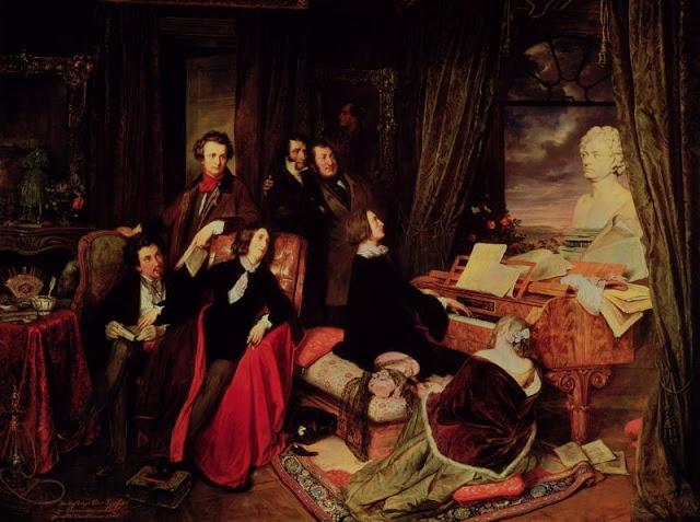 Joseph Danhauser - Liszt al Piano - 1840