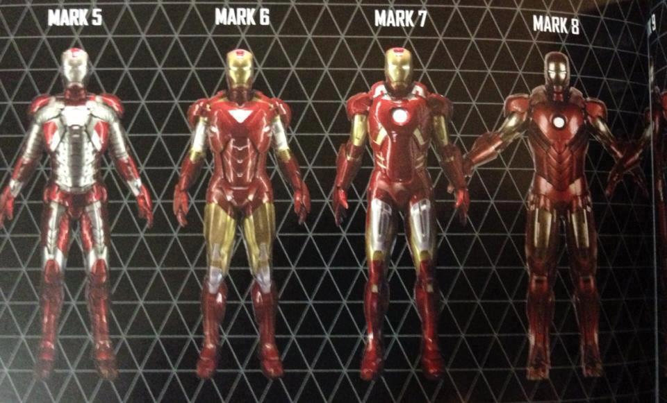 Iron Man 3 Movie Picture: Iron Man Mark 1-42 All In ...