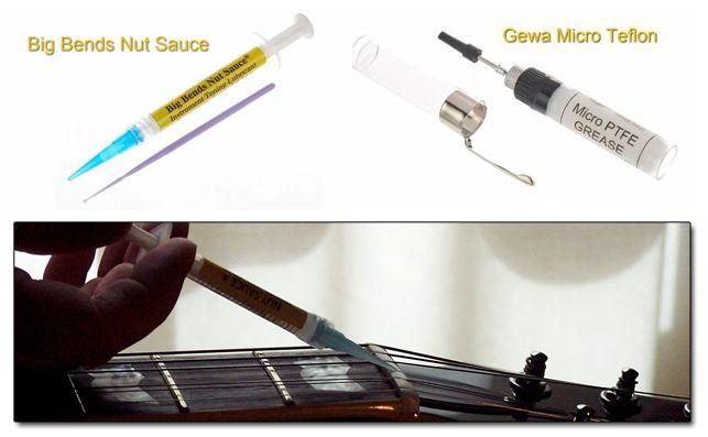 Lubricantes para la Cejuela de Guitarra Eléctrica en el uso de Puente Flotante