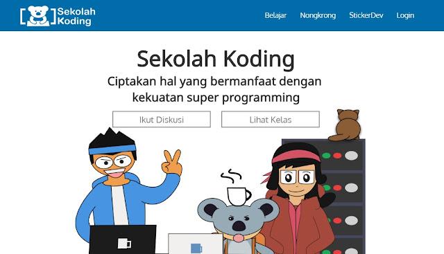 Sekolah Coding free and non-free course