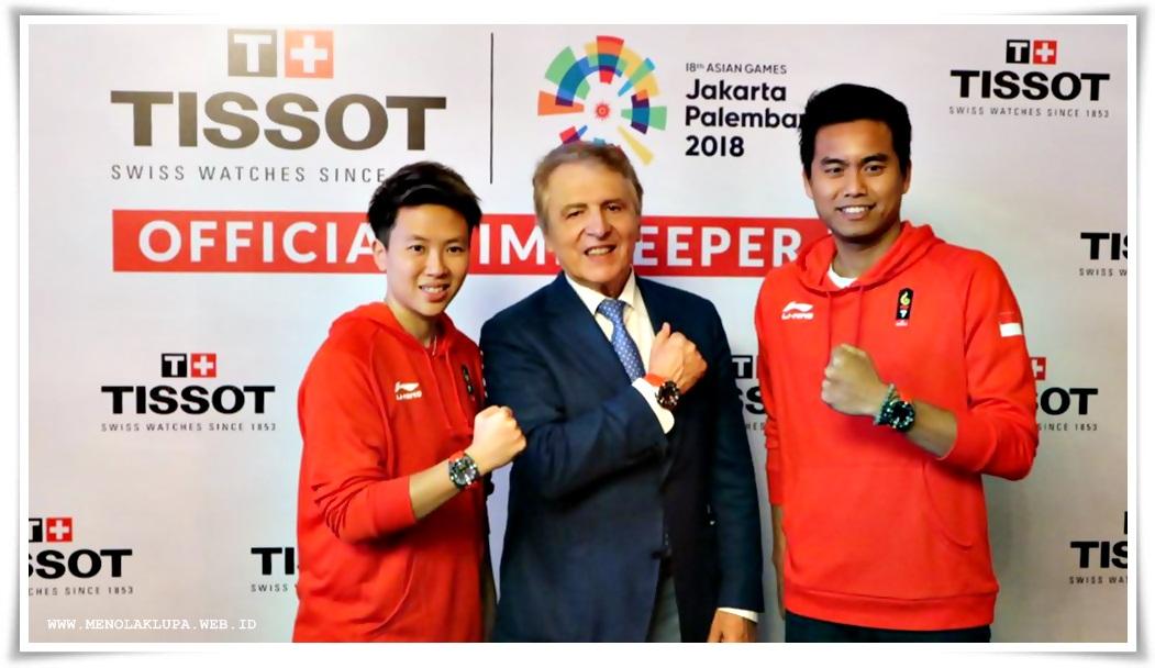 Tantowi Ahmad dan Liliyana Natsir ditunjuk sebagai Local Athlete Heroes of Tissot di Indonesia
