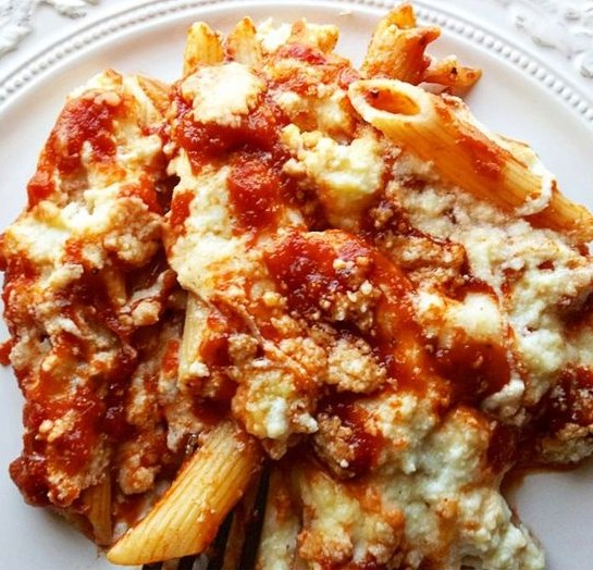 Baked Penne Rigate Recipe #dinner #meal