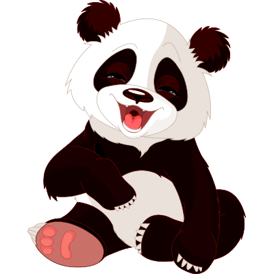 Funny panda sticker