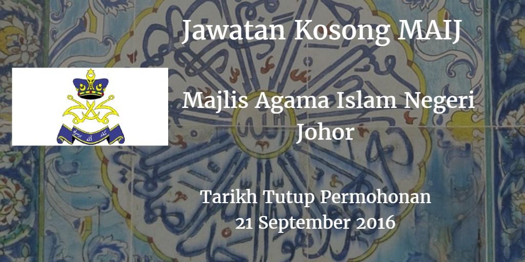 awatan Kosong MAIJ 21 September 2016
