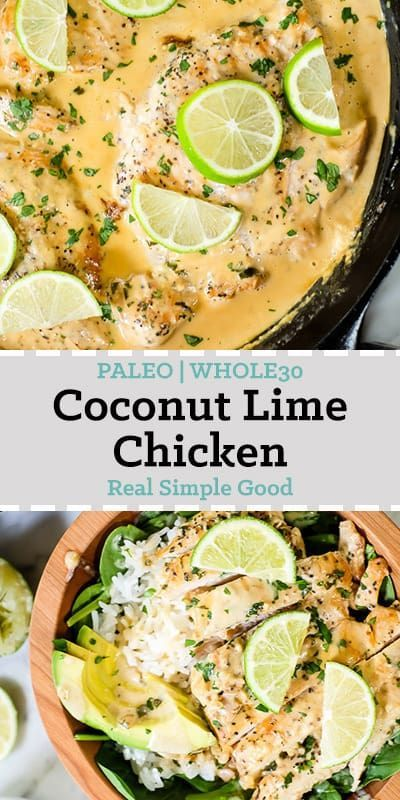 I really love Thai food and it always feels like comfort food to me! This Paleo and Whole30 friendly coconut lime chicken is so flavorful, fresh and satisfying!