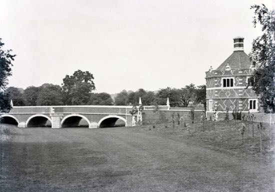 photograph of The new bridge at North Mymms Park 1902 Image by G Knott, part of the Images of North Mymms collection