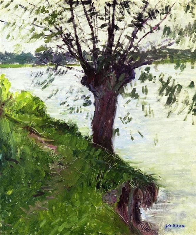 Gustave Caillebotte, Umwelt, Klimaschutz, Menschen, die natur stirbt, baum, fluss, fluten, das leben, ewigkeit, die zeit, am leben erhalten, natur kapituliert vor der menscheit, painting, malerei, bild, poetische Art