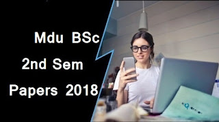 BSc 2nd Sem Previous Year Question Papers 2018 Mdu (Maharshi Dayanand University)