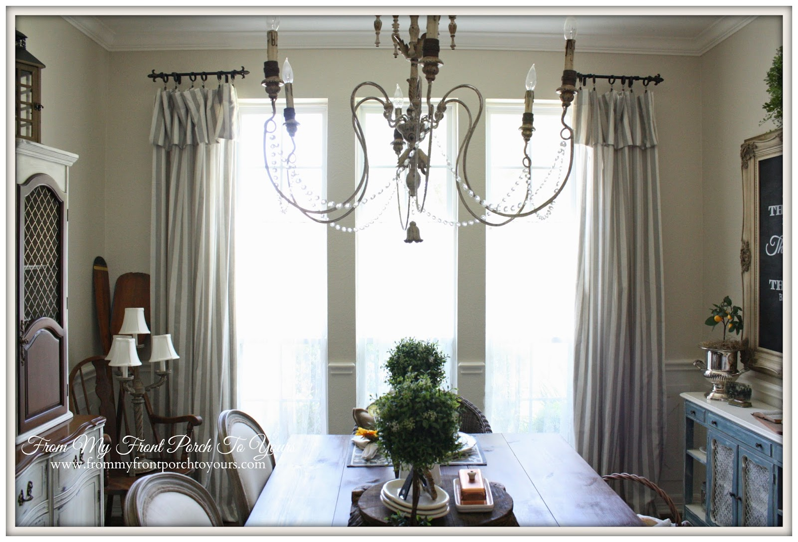 From My Front Porch To Yours: French Farmhouse Dining Room ... on Dining Room Curtains Farmhouse  id=67382