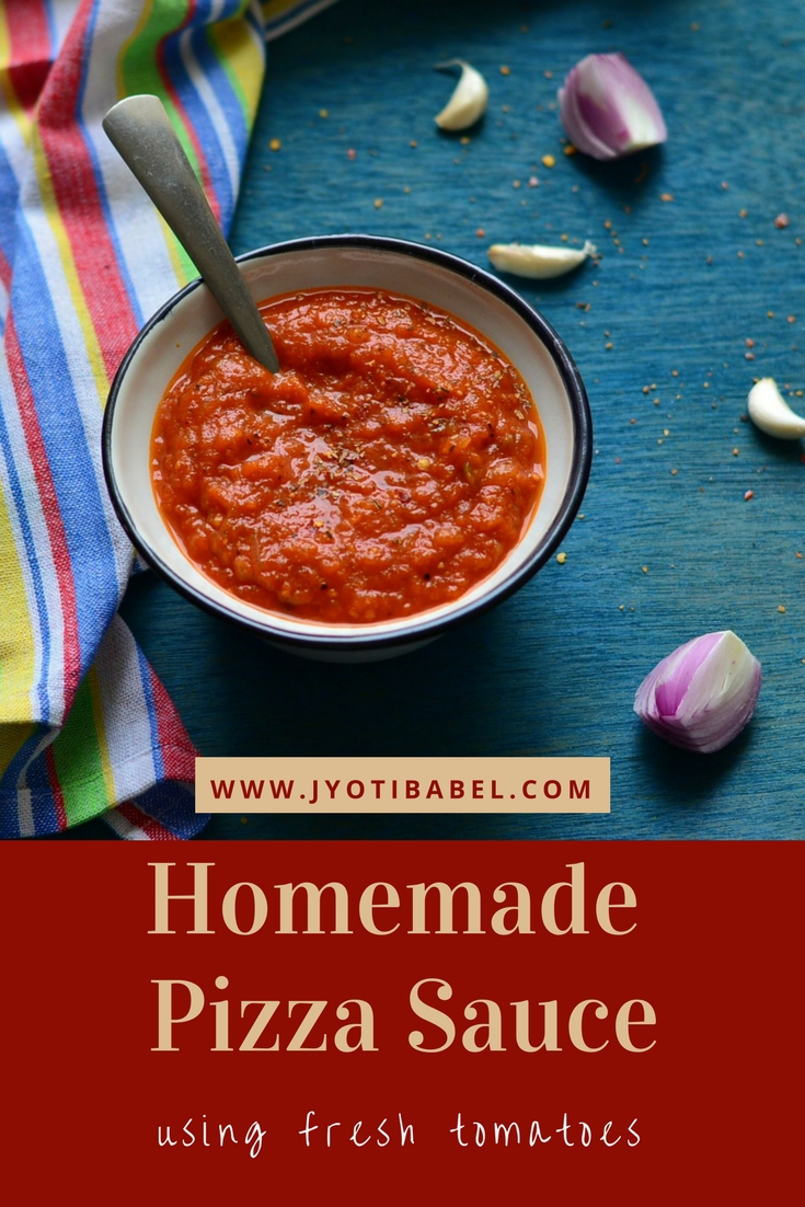 jyoti s pages homemade pizza sauce recipe using fresh tomatoes