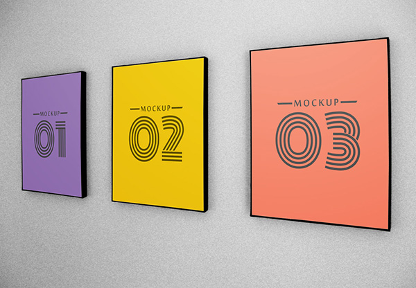 Download Poster Mockup PSD Terbaru Gratis - Sign Mockup 2