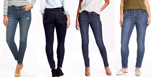 Old Navy Curvy Mid-Rise Skinny Jeans $25-$27 (reg $30)