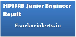 HPSSSB Junior Engineer Result