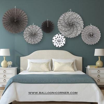 Ide Dekorasi Kamar Tidur Minimalis Dengan Paper Fan
