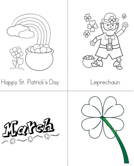 Happy St Patricks Day coloring page for kids leprachuan