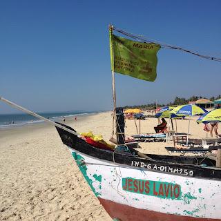 Sulla spiaggia di Benaulim, a Goa