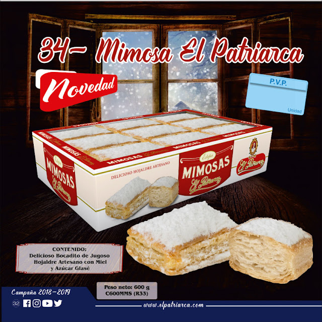 Mimosas El Patriarca 600 g - Comercial H Martin sa