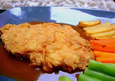 Resep Steak Ayam Goreng Crispy Saus Asam Manis Spesial