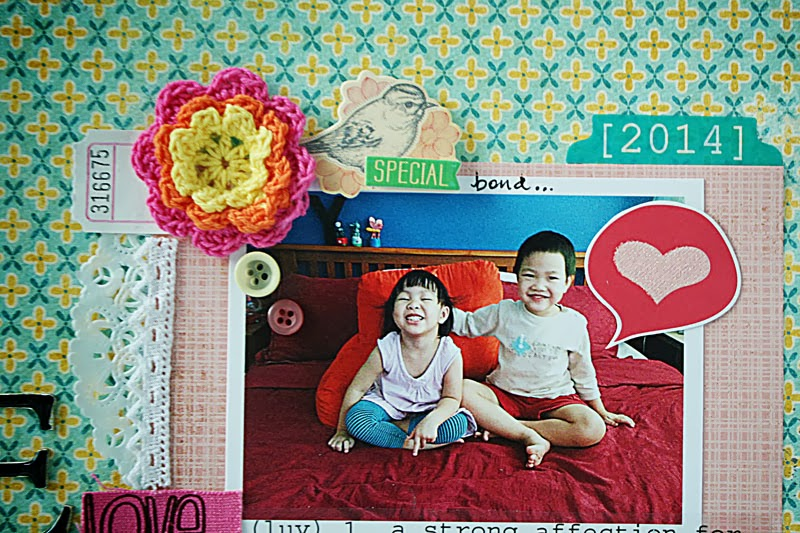 SRM Stickers Blog - Love to Play Layout by Yvonne - #layout #stickers #doily #borders