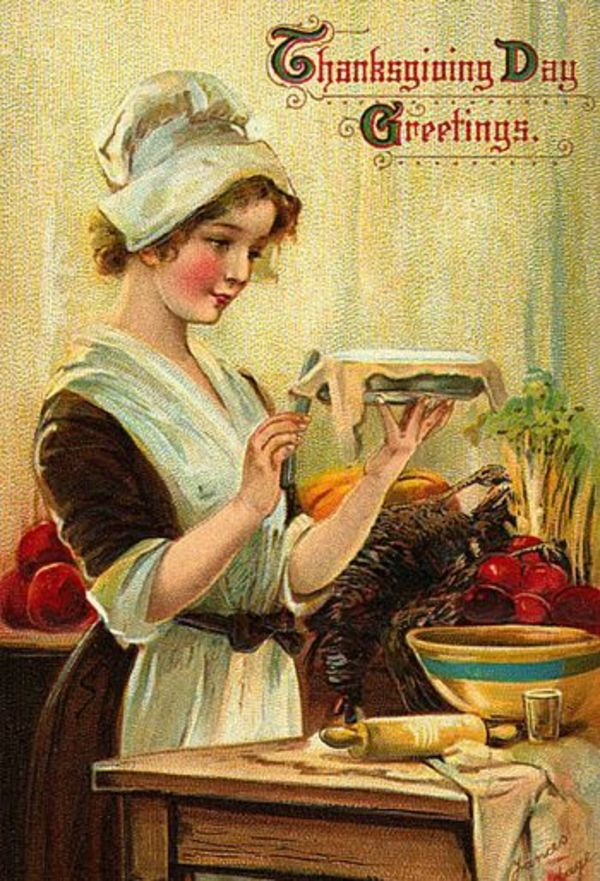 Vintage postcard with Thanksgiving greetings | The ESL Connection