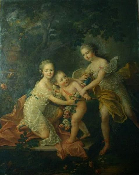 Children of the Duke of Orleans by François-Hubert Drouais, 1762