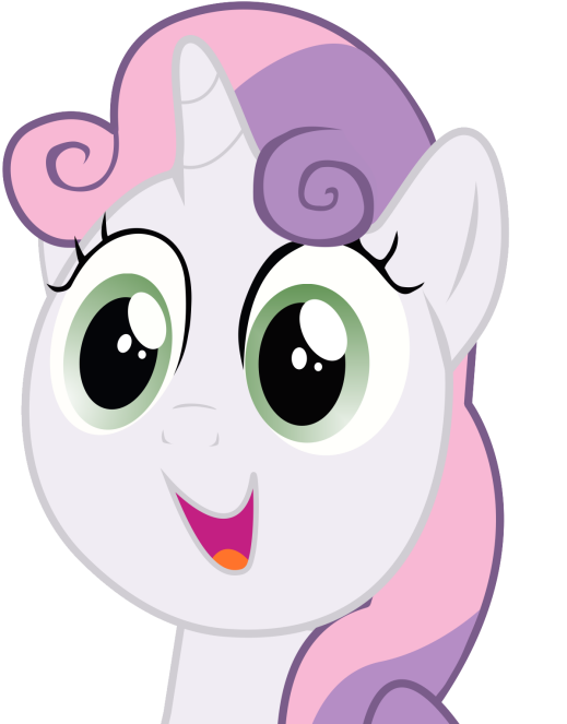 Sweetie Belle Happy Face Vector