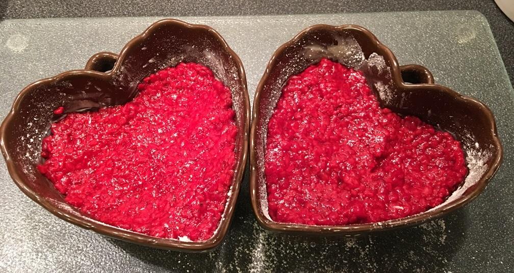 Gratiné de framboise et clémentine sans gluten