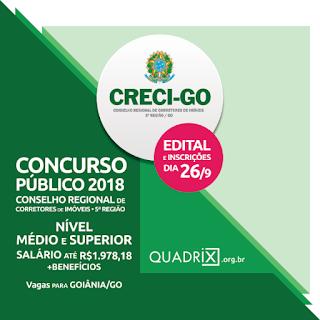Concurso Público CRECIGO (Apostila) edital e Inscrição