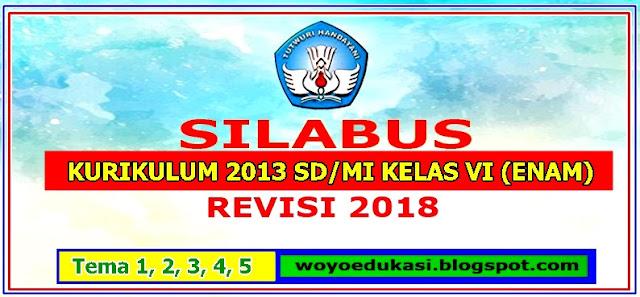 SILABUS KURIKULUM 2013 SD/MI KELAS VI (ENAM) SEMESTER 1  REVISI 2018