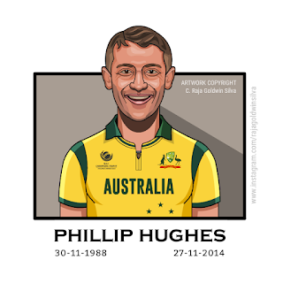 Phillip Hughes Caricature Cartoon