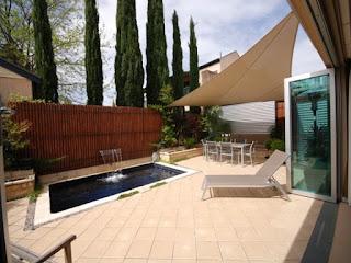 piscina cu panza de apa gradina simpla