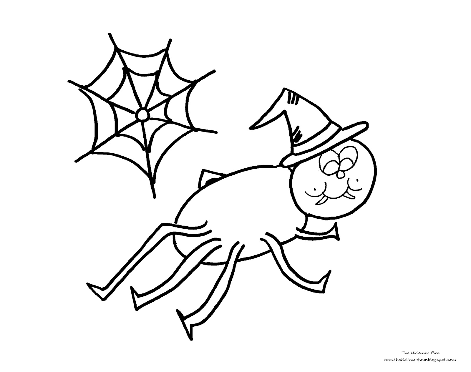 Itsy Bitsy Spider Coloring Page - Eskayalitim