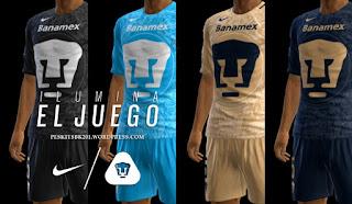 Pumas UNAM 2016-2017 Kits Pes 2013 By Bk-201