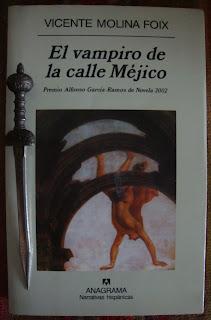 Portada del libro El vampiro de la calle Méjico, de Vicente Molina Foix