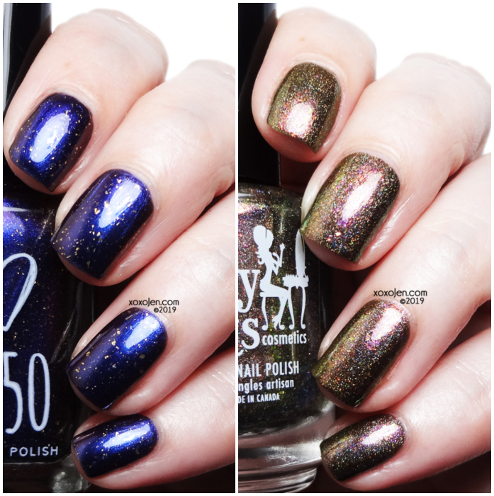 xoxoJen's swatch of Girly Bits High Functioning Sociopath and 1850 Artisan The Final Problem