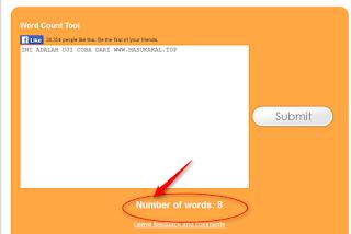cara menghitung jumlah kata dalam artikel di blog