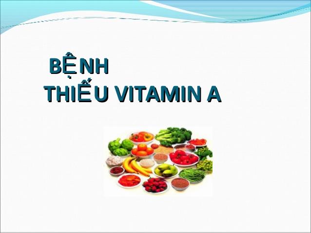 benh thieu vitamin A