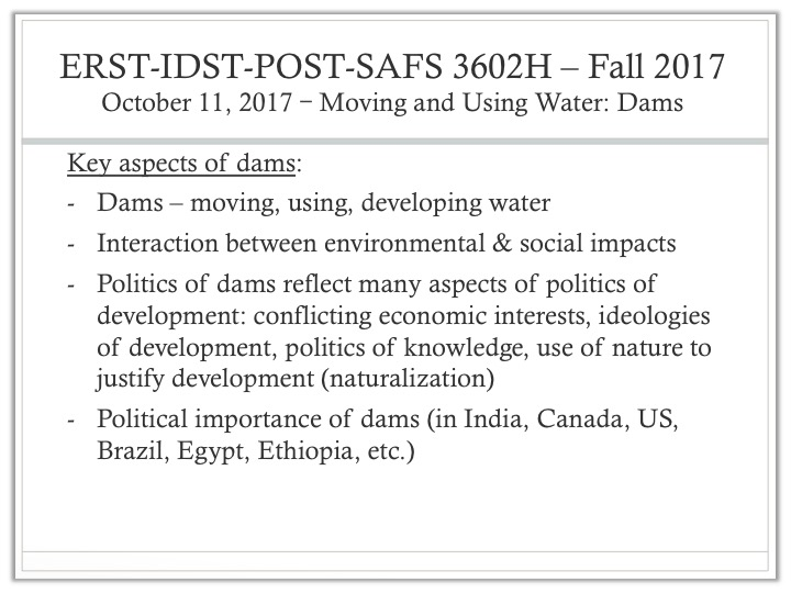 the importance of dams to water quality environmental sciences essay Water quality is important not only to protect public health: water provides ecosystem habitats, is used for farming, fishing and mining, and contributes to recreation and tourism if water quality is not maintained, it is not just the environment that will suffer.