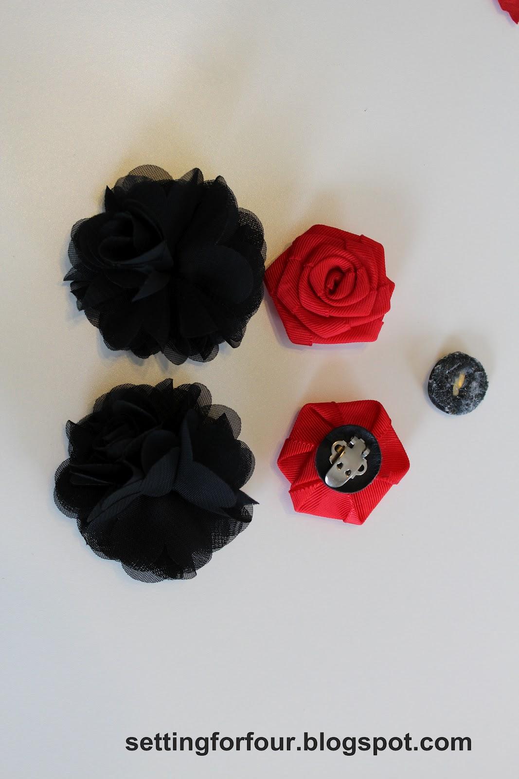 a1fcdb9b54771b DIY Flower Clips for Flip Flops   Sandals - Setting for Four
