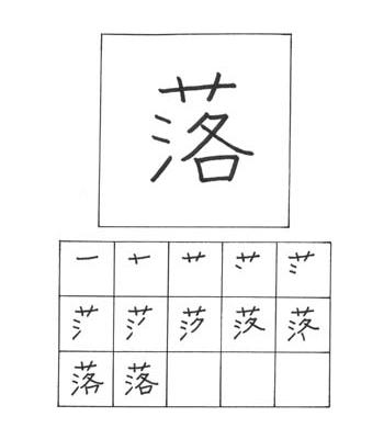 kanji terjatuh