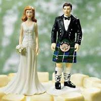Bonecos do bolo dos noivos - Grooms caketop