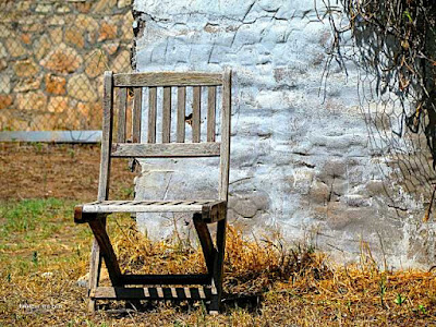 Picture of weathered wall textures and chair in New Mexico